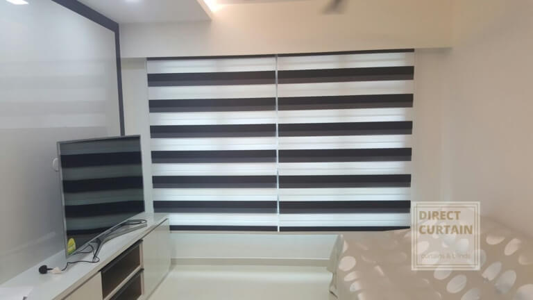 combi blinds in living room