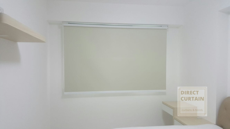 roller blind in bedroom