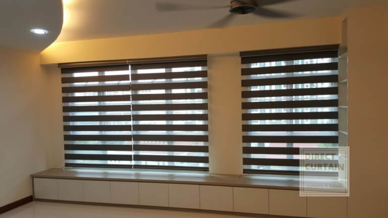 korean rainbow blinds in living room Singapore