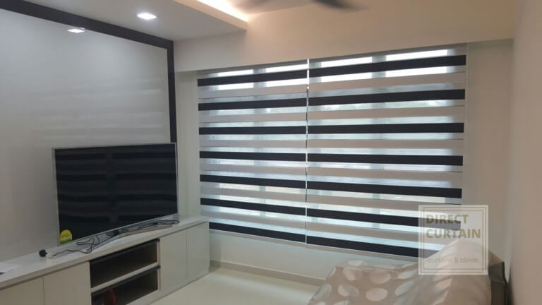 triple shade combi blinds in living room
