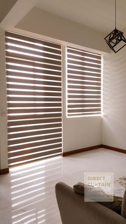 Beautiful korean combi blinds for the living room