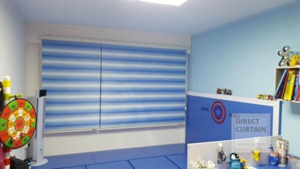 Blue Korean Rainbow Blinds for children's bedroom