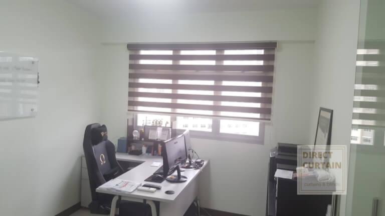 grey korean combi blinds in study room singapore
