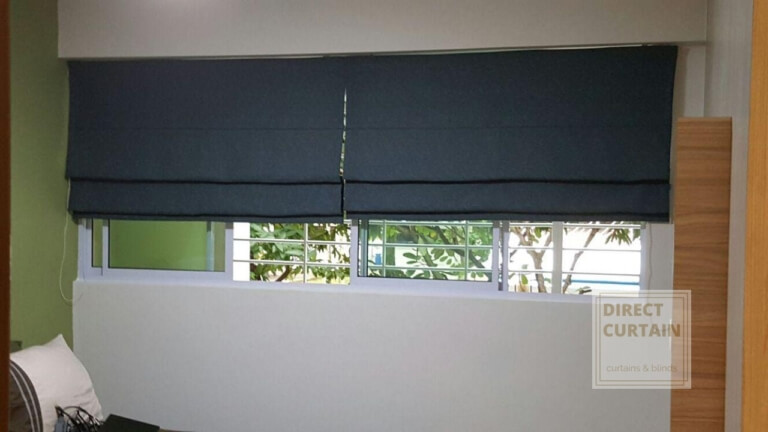 Roman Blinds in a Singapore Home Living common bedroom