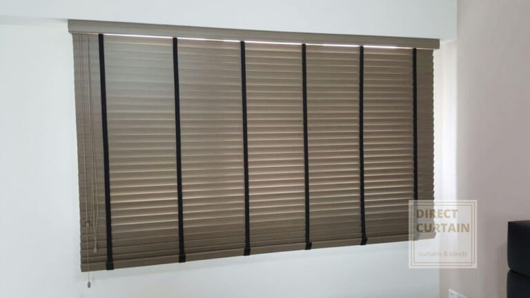 Brown pvc venetian blinds
