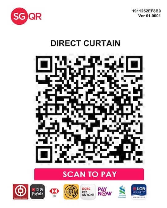 Direct Curtain Payment SG QR Code