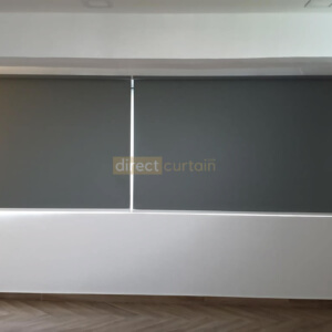 Blackout Roller Blind Coin Light Grey in Jurong Singapore