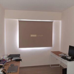 Blackout Roller Blind Tortilla Brown