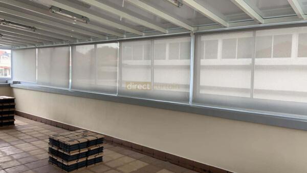 Indoor Sunscreen Roller Blind Grey White
