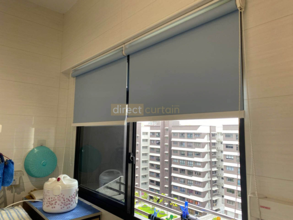 Rollers Blind - Blackout Lulworth H Blue - HDB Canberra Singapore