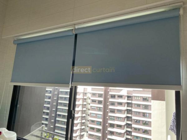 Roller Blinds - Blackout Lulworth H Blue - HDB Kitchen Canberra Singapore