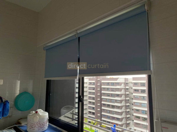 Roller Blinds - HDB Canberra Singapore - Blackout Lulworth H Blue