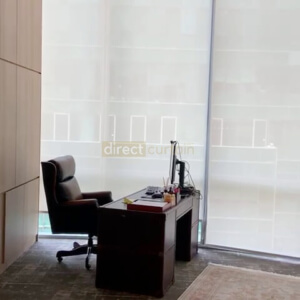 Roller Blind in office Singapore - Sunscreen Daisy White