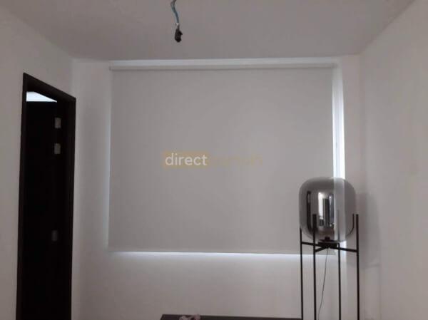 indoor blackout roller blind white study room