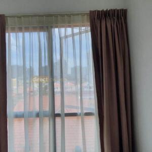 Blackout Curtain – Chevron Coffee Brown