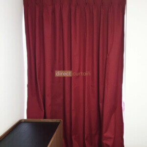 Blackout Curtain – Weave Ruby Red closed-watermark