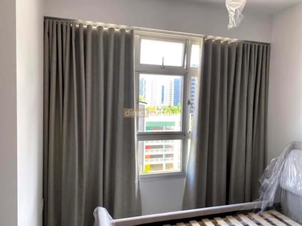 Blackout Night Curtain – Weave Charleston Brown-Ripple-Fold-Curtains