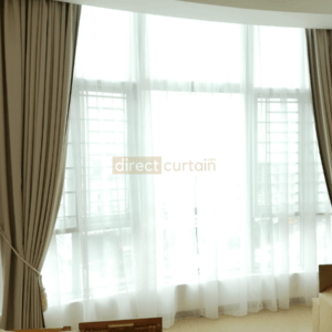 Day Curtain Singapore – Raindrop Off-white Beige