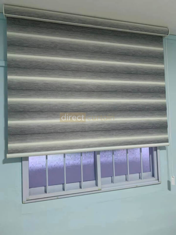 Day and Night Blinds Singapore - Gradation White Grey