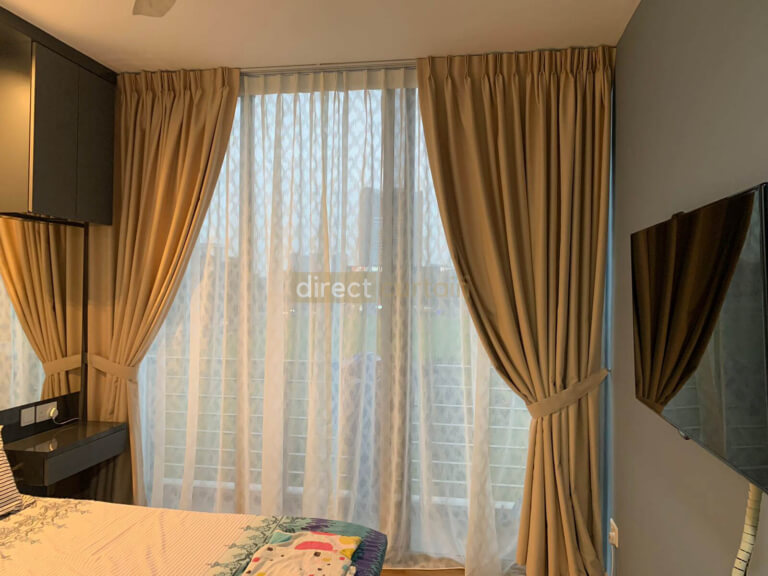 Dim-out Night Curtain – Smooth Egg Nog Beige in Ang Mo Kio Condo Singapore