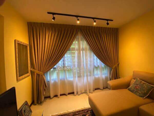 Dim-out Curtain – Tex Tan Beige reflect beautiful warm light in Living Room