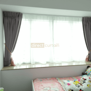 Dim-out Night Curtain Singapore – Smooth Fossil Grey