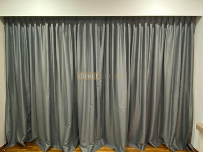 Dim-out Night Curtains Singapore – Bark Pebble Grey closed
