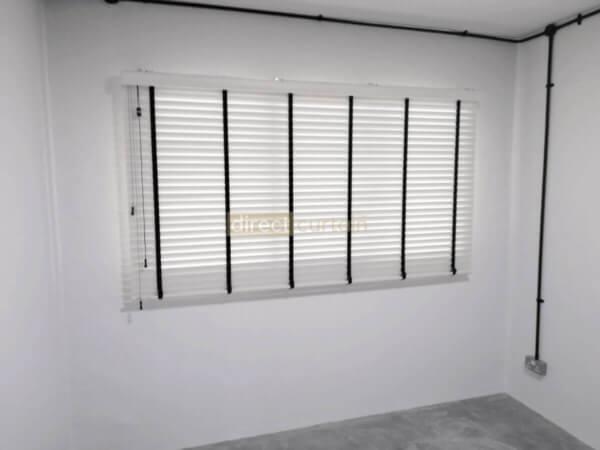Fauxwood (PVC) Venetian Blind - Bright White 50mm - 1