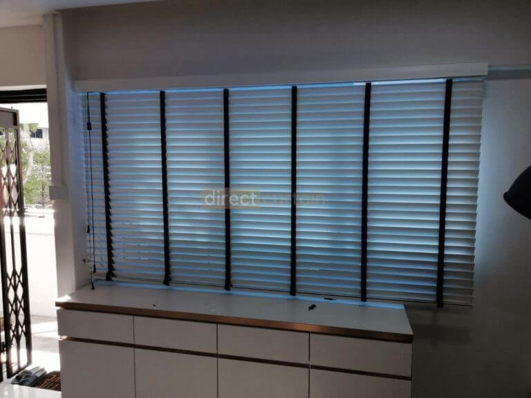 Fauxwood (PVC) Venetian Blind - Bright White 50mm - 5