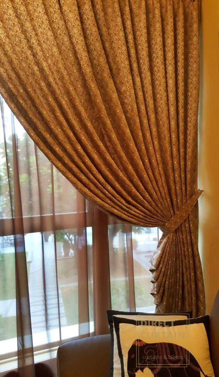 Gold Night Curtains