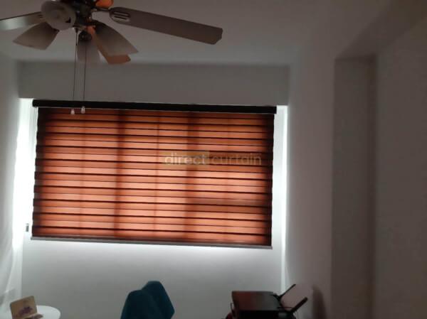 Korean Combi Zebra Blind – Chocolate Brown bedroom