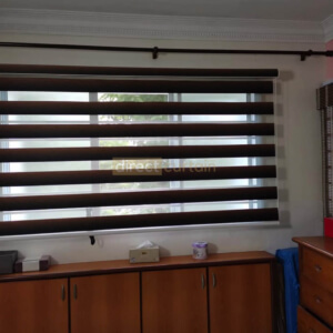 Korean Combi Zebra Blinds – Gradation Brown Black - MBR