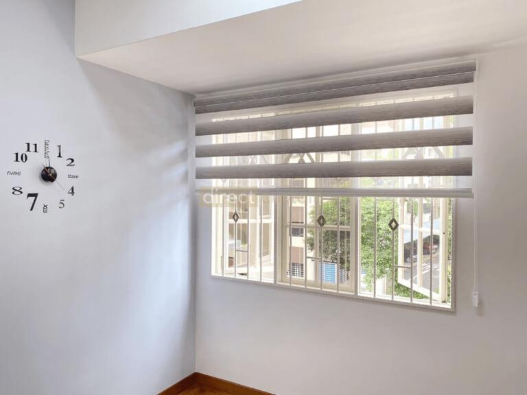 Korean-Zebra-Blinds-Gradation-White-Grey-rolled-up