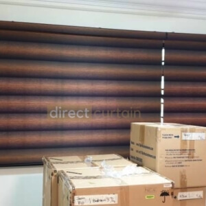 Korean Zebra Combi Blinds – Gradation Brown Black