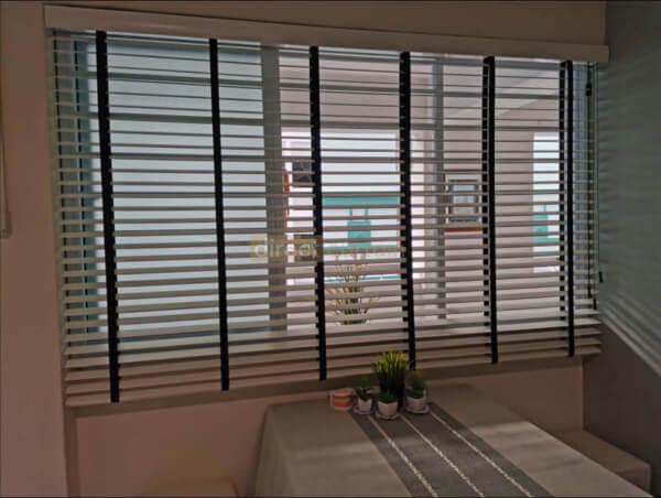 PVC Venetian Blind - Bright White - 50mm - Dining Room