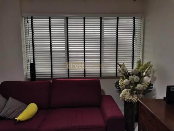 PVC Venetian Blind - Bright White - 50mm - Living Room