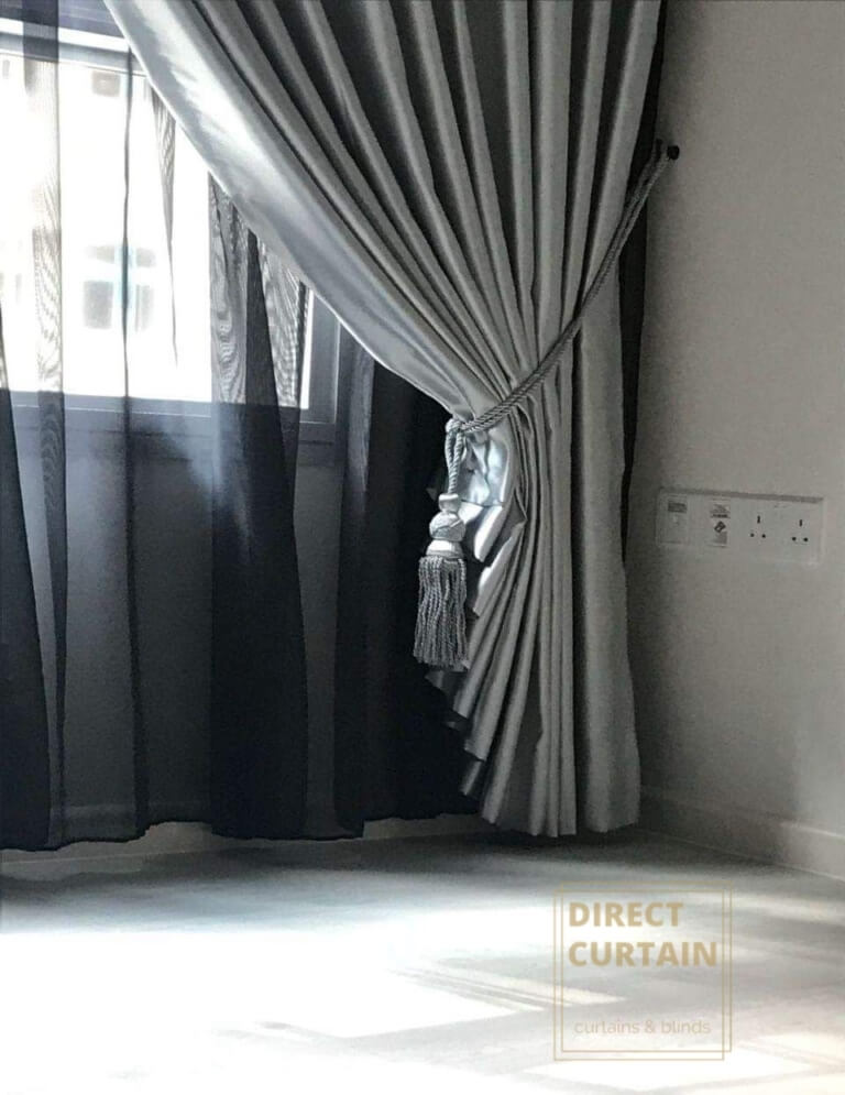 Silver Night Curtains and Black Day Curtains