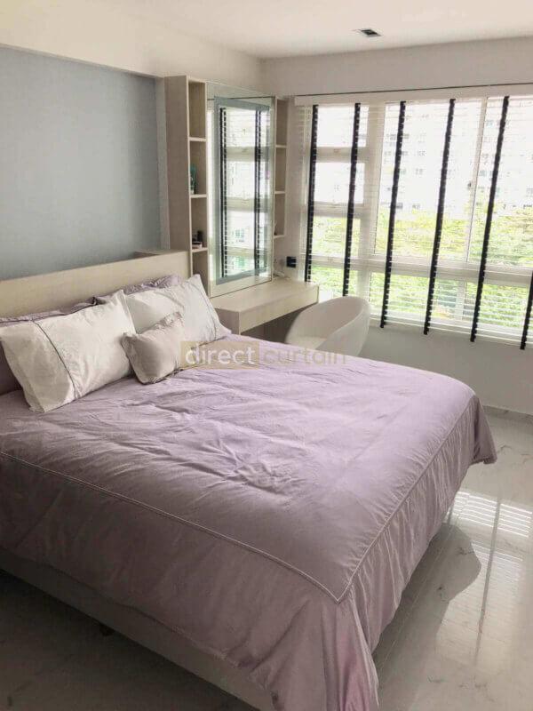 Venetian blinds in Master Bedroom
