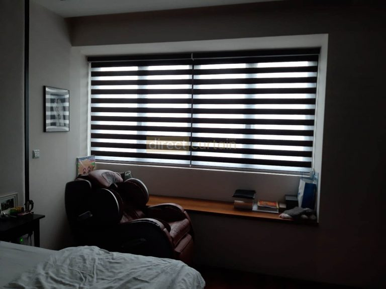 Zebra Blind – Blackout Chocolate Brown