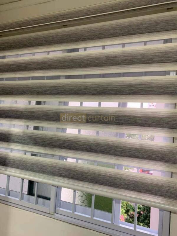 Zebra Blinds Toa Payoh Singapore - Gradation White Grey