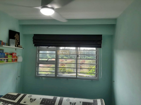 roman blinds 17001-11 opened