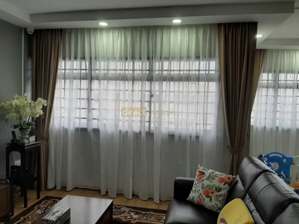 Day Sheer Curtain – Sable Off-White Beige Living