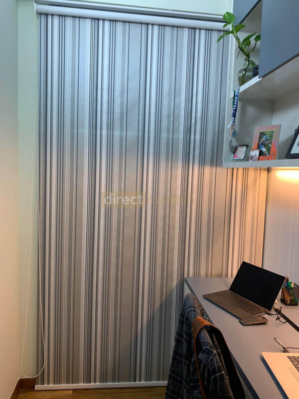 Roller Blind California Blackout Series in Singapore fully-rolled down