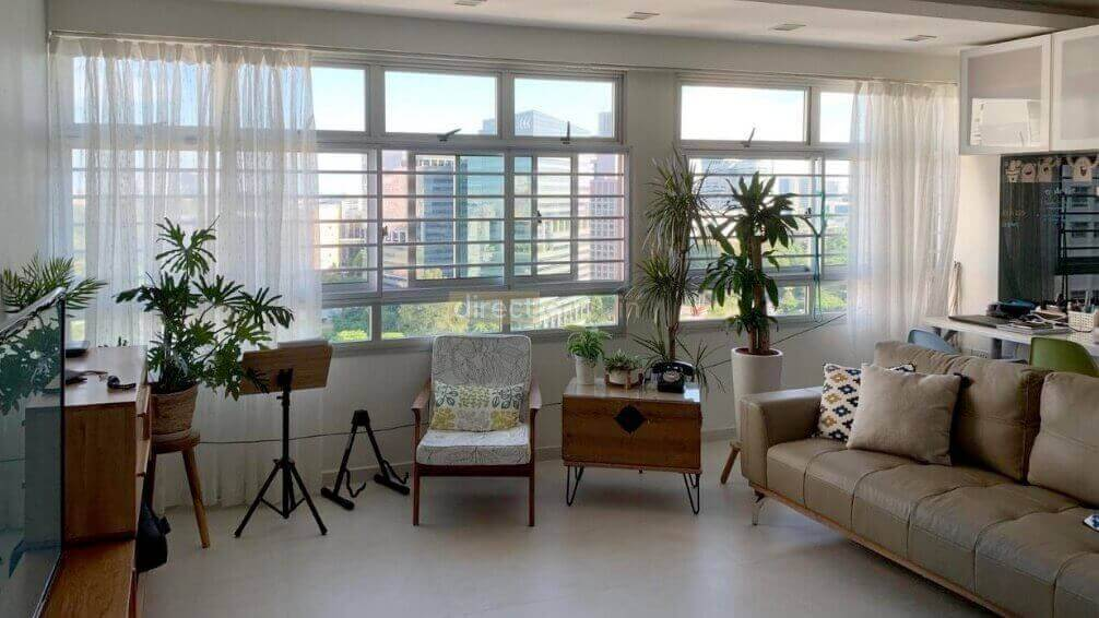 curtains in a singapore living room before using venetian pvc blinds