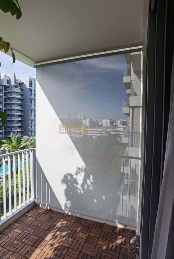 outdoor roller blinds in balcony singapore