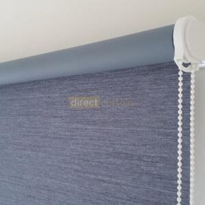 Blackout Roller Blind Denim Blue Grey close-up