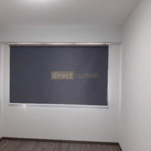 Blackout Roller Blind Singapore - Denim Blue Grey