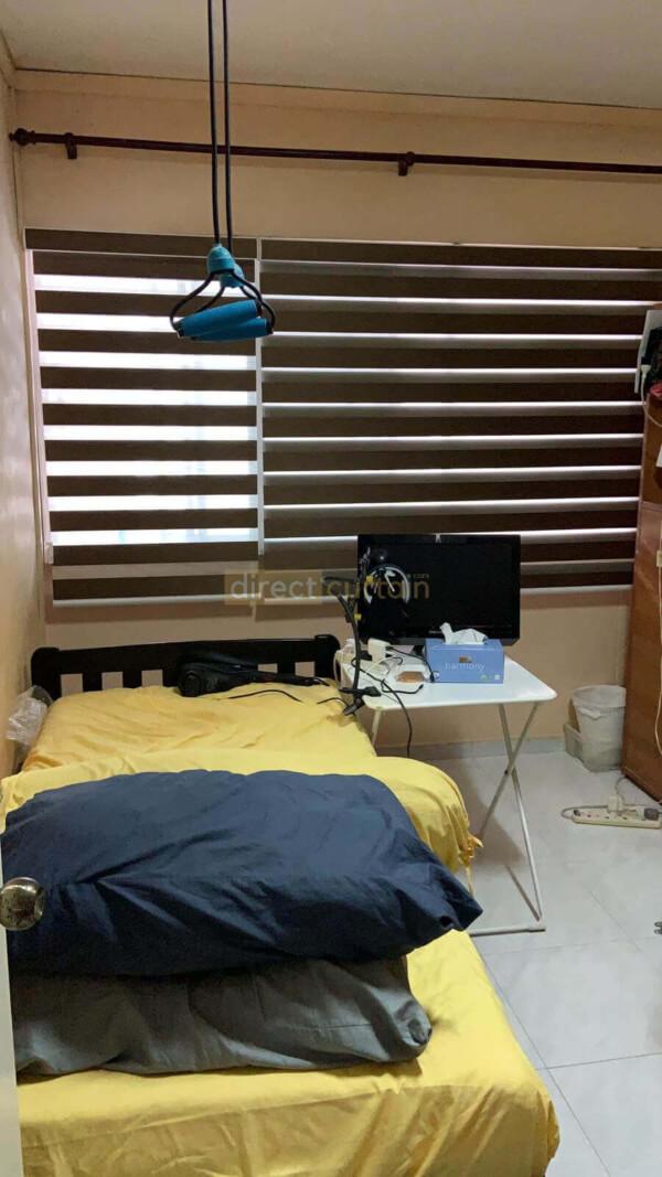 Korean Combi Zebra Blind – Blackout Oxford Brown Split