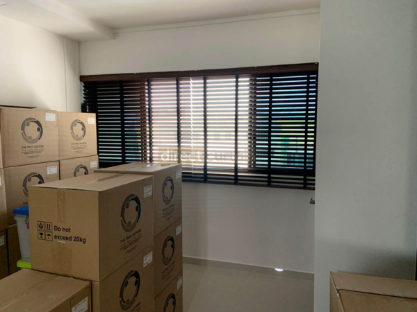 Fauxwood Polystyrene Venetian Blind – 50mm – Dark Wood Brown Jurong Singapore