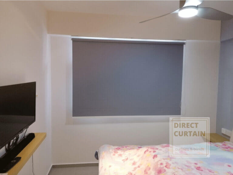 Grey-Roller-Blinds-in-HDB-Master-Bed-Room